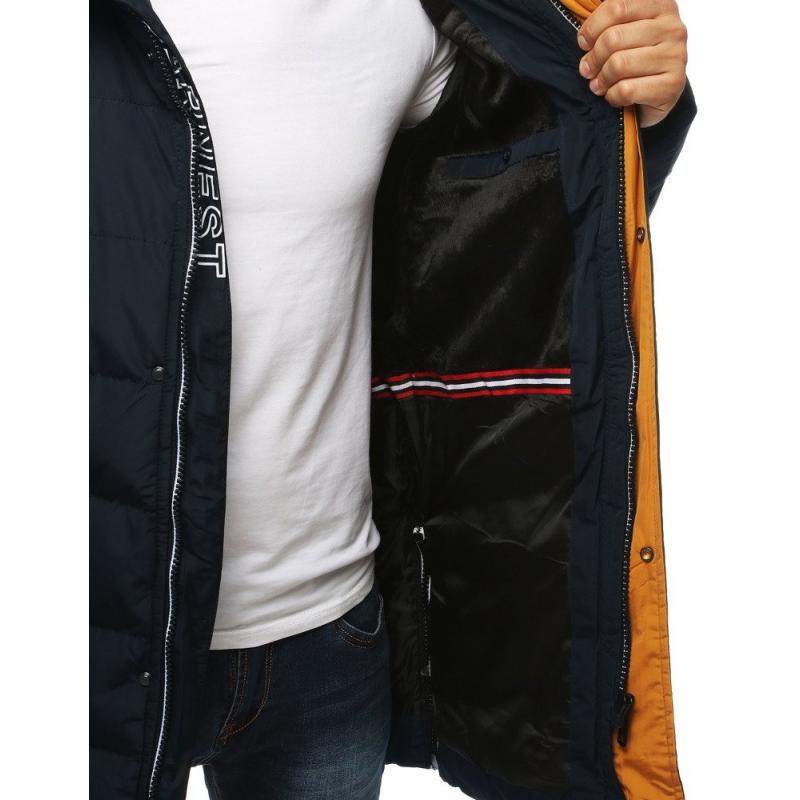 STYLE Férfi télikabát kabát télen meleg bélelt steppelt